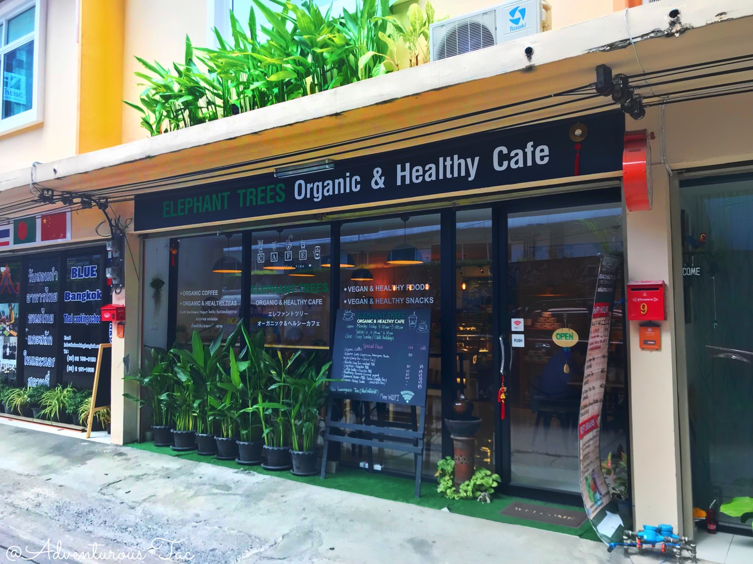 ELEPHANT TREES】An small organic cafe close to BTS bangchak station