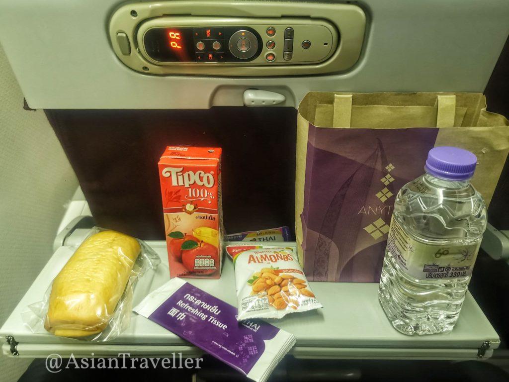 タイ航空の夕食