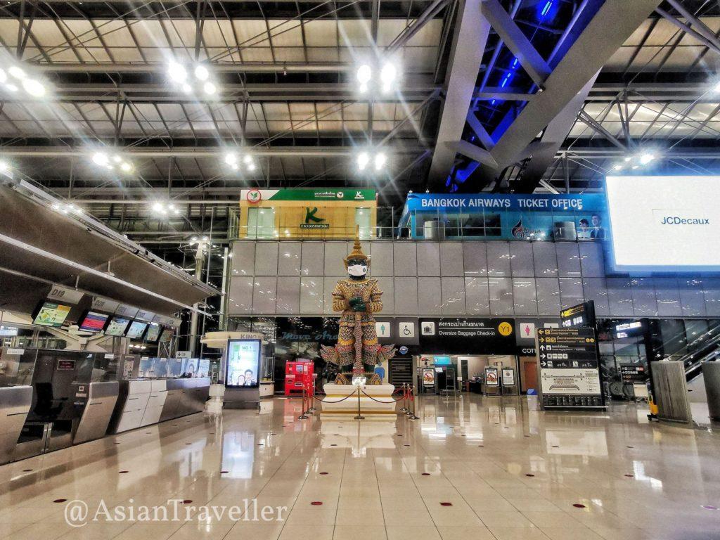 コロナ禍のスワンナプーム空港