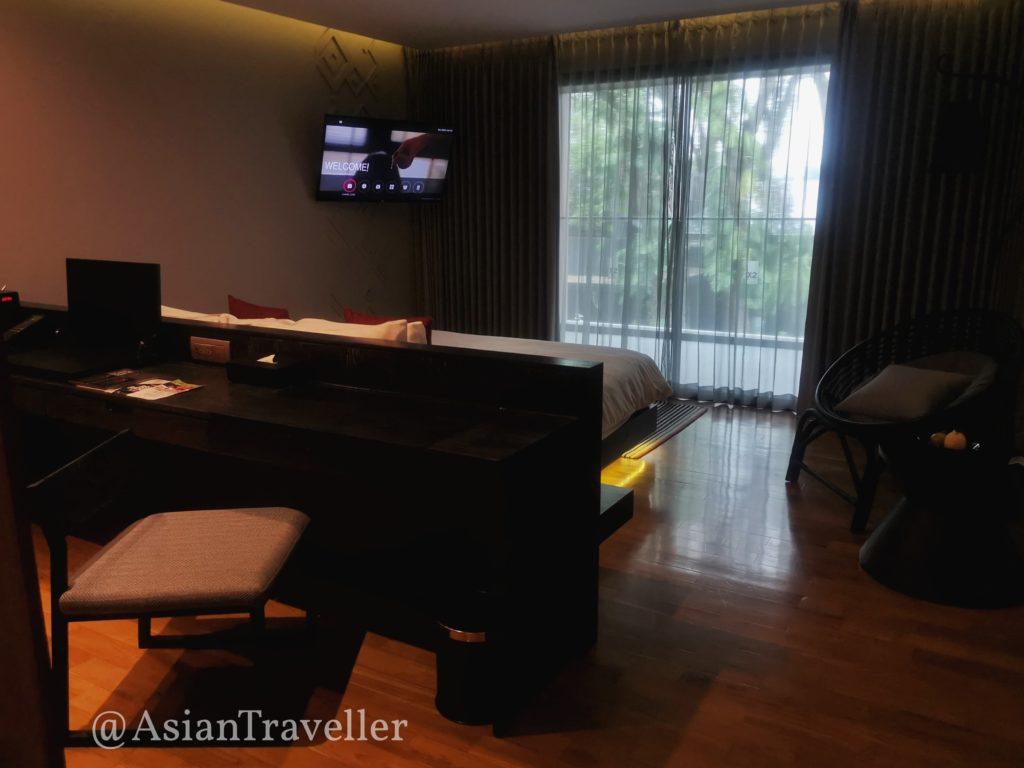 クロスチェンマイリバーサイドホテルの寝室